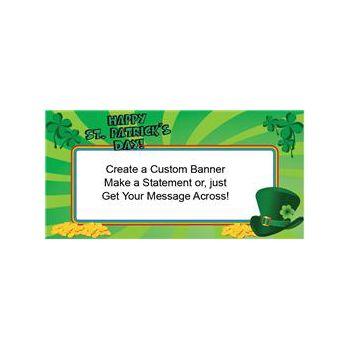St Patrick's Day Green Custom Banner (Variety of Sizes)