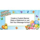 Colorful Easter Eggs Custom Banner (Variety of Sizes)
