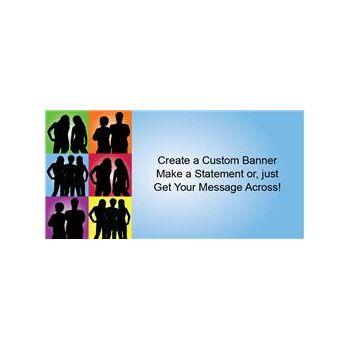 Silhouette Squares Custom Banner