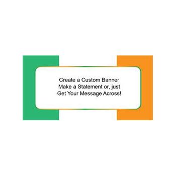Irish Flag Custom Banner (Variety of Sizes)