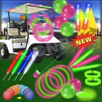 NIGHT GOLF  PINK & GREEN  SCRAMBLE PACK (FOR 60 PLAYERS)
