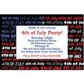 Patriotic Pride Personalized Invitations