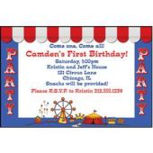 Circus Party Personalized Invitations