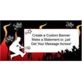 Punk Rocker Custom Banner (Variety of Sizes)