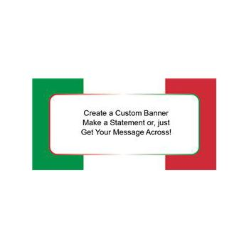 Red White Green Stripe Custom Banner