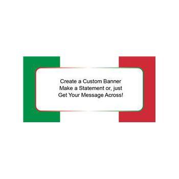 Red White Green Stripe Custom Banner