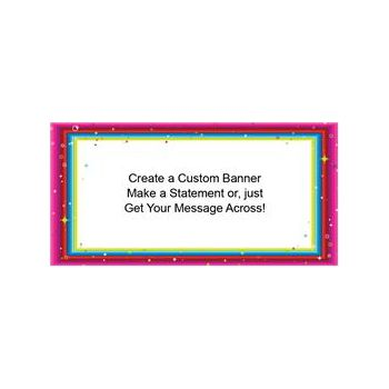 Colorful Glitter Border Custom Banner