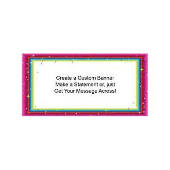 Colorful Glitter Border Custom Banner