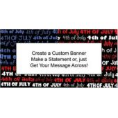 4th of July Pride Custom Banner (Variety of Sizes)