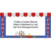 Circus Party Custom Banner (Variety of Sizes)