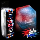 Red, White and Blue LED Lited Ice Cubes - 4 Pack