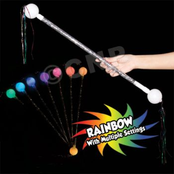 Multi-Color LED Tinsel Baton - 24 Inch