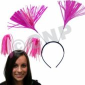 Pink Tinsel Headboppers - 12 Pack
