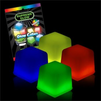 GLOW ICE CUBE ASSORTMENT, 4 PACK
