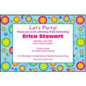 Flower Power Personalzied Invitations