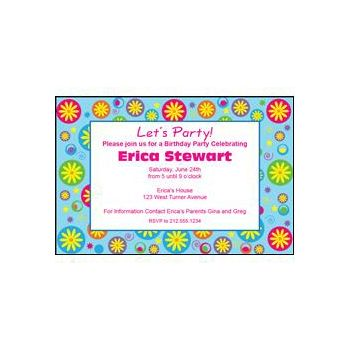 Flower Pattern Personalized Invitations