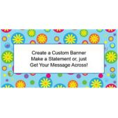 Flower Power Custom Banner