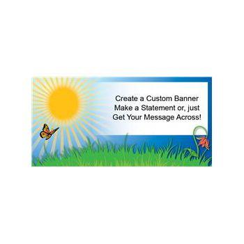 Sunny Summer Days Custom Banner (Variety of Sizes)