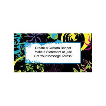 Abstract Graphic Custom Banner (Variety of Sizes)