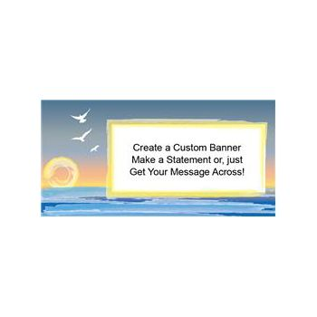 Beach Scene Custom Banners (Variety of Sizes)