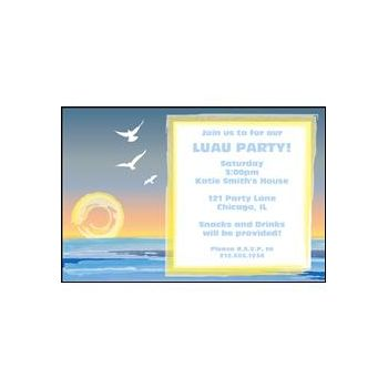Beach Scene Personalized Invitations