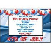 4th of July Celebration Personalized Invitations