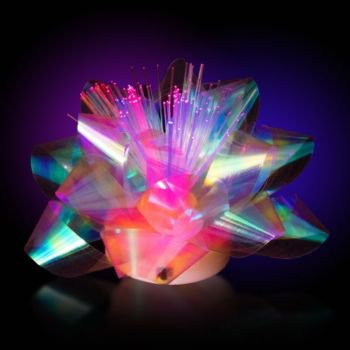 Fiber Optic LED Gift Bow - 3.5 Inch