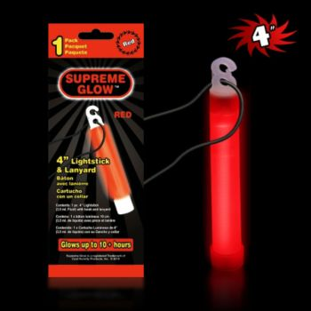 Red Glow Stick - 4 Inch, Retail Pack