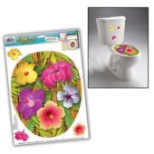 Tropical Flower Toilet Topper