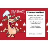 Pig Roast Personalized Invitations