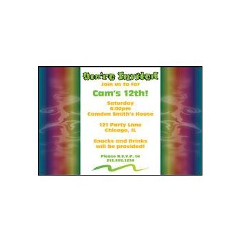 Graffiti Tie Dye Personalized Invitations
