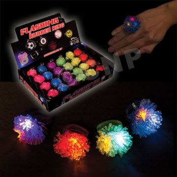 Porcupine Shaped LED Jelly Rings - 24 Pack