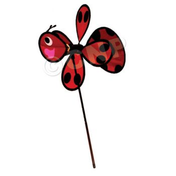 LADY BUG WIND SPINNER