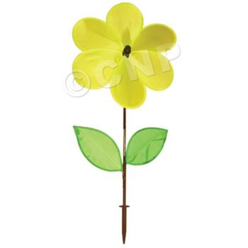 YELLOW FLOWER  WIND SPINNER