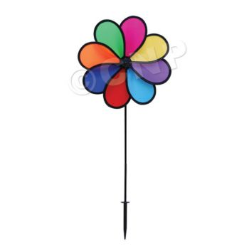 RAINBOW FLOWER MINI WIND SPINNER