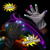 LED Sequin Rock Star Gloves - Child Size
