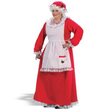 Mrs. Claus Plus Adult Costume