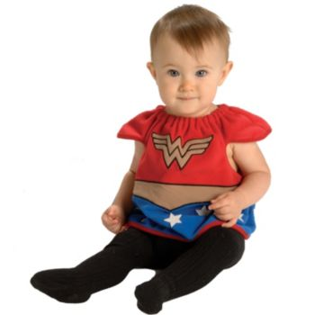 Wonder Woman Bib Newborn Costume