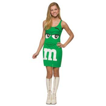 M&M Green Tank Dress Teen Costume