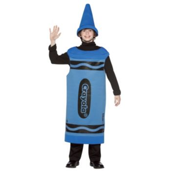 Blue Crayola Crayon Tween Costume