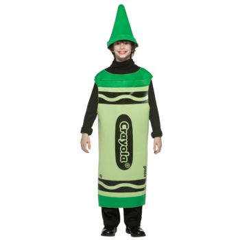 Green Crayola Crayon Tween Costume