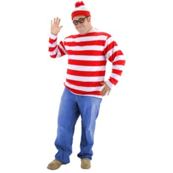 Where's Waldo Plus Adult Costume