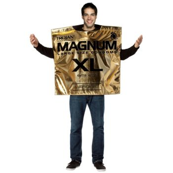 Trojan Magnum Condom Wrapper Adult Costume