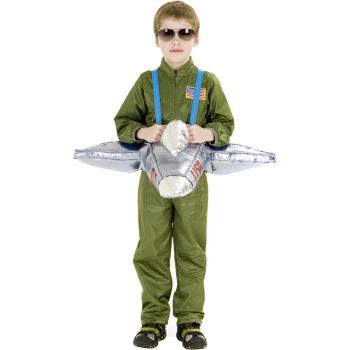 Plush Ride-In Airplane Child Costume