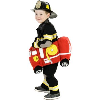 Plush Ride-In Fire Truck Child Costume