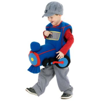 Plush Ride-In Train Child Costume