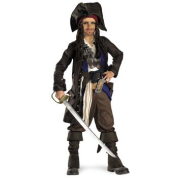 Pirates of the Caribbean - Captain Jack Sparrow Prestige Child Costume