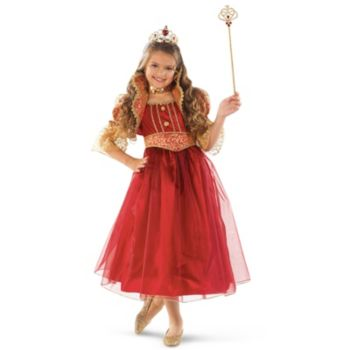 Red and Gold Princess Child Costume