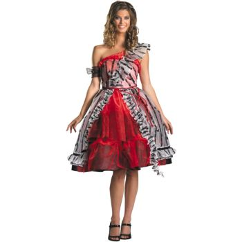 Alice In Wonderland - Alice Red Court Dress Adult Costume