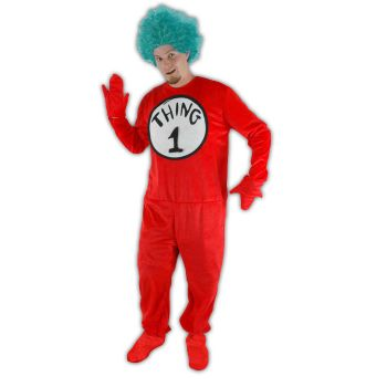 Dr. Seuss Thing 1 and 2 Adult Costume